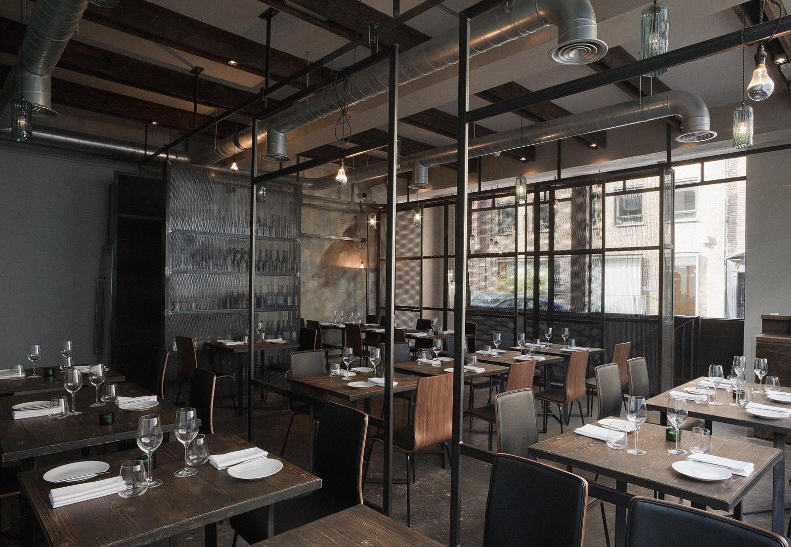Restaurant interior design industrial environm