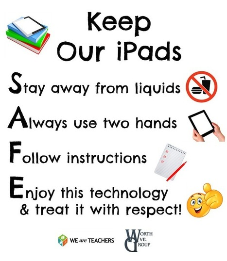 Download Our Free iPad Safety Poster | iPads in the Elementary Library | Scoop.it