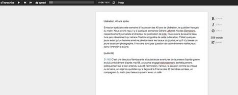 Transcription de fichiers audio : l'outil ultime | Technologie et éducation | Scoop.it