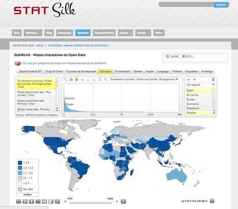 StatWorld: mapas interactivos de datos del mundo   Open Geographic Information Systems   Scoop.it