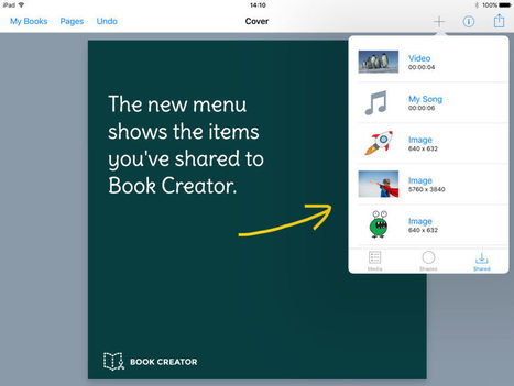 Book Creator 4.3: What have we improved? - Book Creator app | Blog | Learning with Mobile Devices | Scoop.it