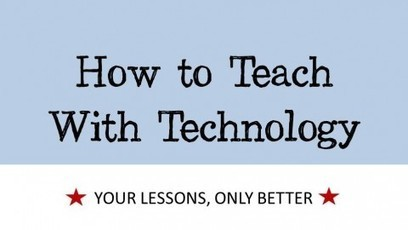 Is it time to transform Education: HOW TO TEACH WITH TECHNOLOGY. | Educational Articles | Scoop.it