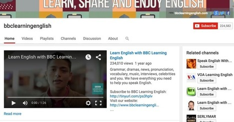 Five great YouTube channels for learning English ~ Educational Technology and Mobile Learning | eLearningKorean | Scoop.it