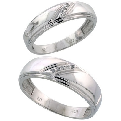 Gemini His and Her Black Titanium Promise Rings Couple Matching Wedding Rings Set 6mm /& 4mm Width Men Ring Size 10.5 15 Women Ring Size