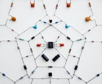 "Electronic Components Used to Make ""Technological Mandalas"" 