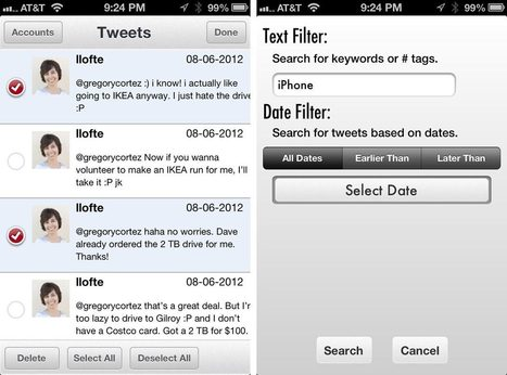 Tweet Cleaner for iPhone allows you to quickly search and delete Tweets | iMore.com | App Buzz | Scoop.it