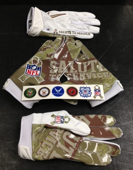 PHOTO: Nike NFL Gloves To Show Support Of Troops On Veterans ... | Kwang_mang | Scoop.it