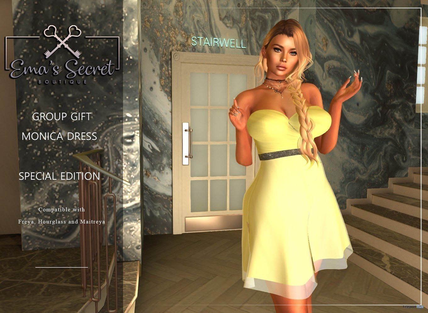 d5fce3d1dd0b9 Monica Dress Special Edition April 2019 Group Gift by Ema s Secret