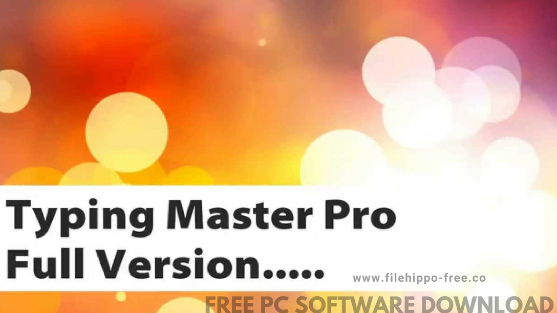 Typing Master 10 Latest Version 2018 Free Downl