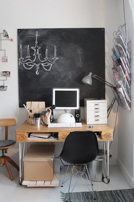 { Bureau } Un bureau palette : pas cher & 100% recyclé !   décoration & déco   Scoop.it