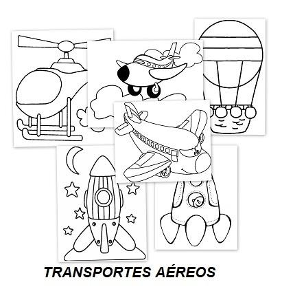 Transportes por aire para colorear | Educapeque...