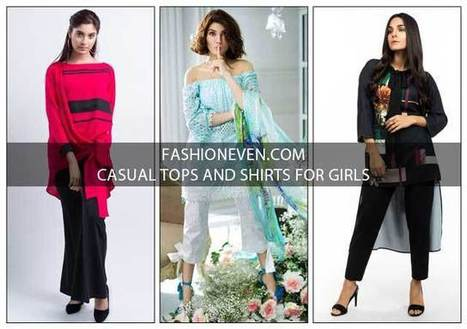 5ad1e2a4acd Pakistani Casual Tops And Shirt Designs For Gir...
