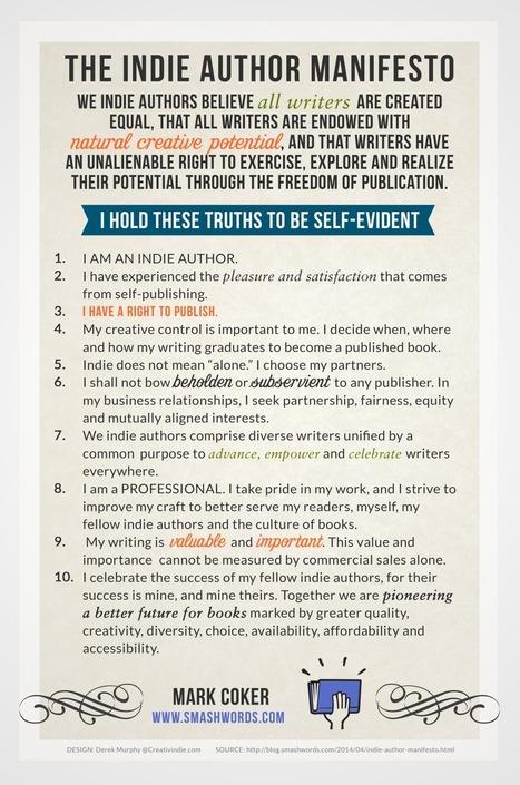 Il Manifesto degli Autori Indipendenti: 10 punti su cosa significa pubblicare indie | Diventa editore di te stesso | Scoop.it