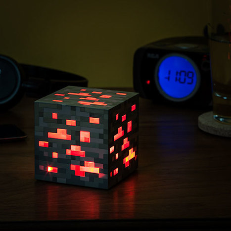 Minecraft Light-Up Redstone Ore | All Geeks | Scoop.it