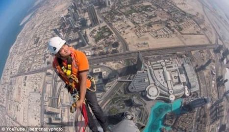 Photographer scales Dubai's Burj Khalifa to capture the vertigo-inducing view from the very tip of the world's tallest structur   What's new in Visual Communication?   Scoop.it