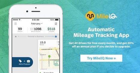 """MileIQ is the app I use to log my miles. Try it"" 