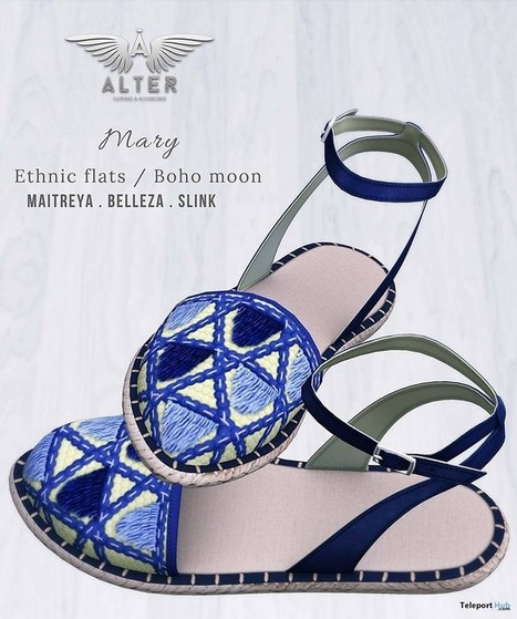 526cab1b60d3cd Mary Ethnic Flats Boho Moon Sense Event July 2018 Group Gift by ALTER