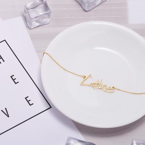 0eb2b30f2 Amazon.com: Graceful Rings Gix Minimalist Custom Name Necklaces Script Gold  Letter Writing Jewelry: Handmade