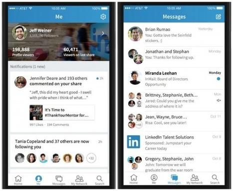 Ριζική αλλαγή εμφάνισης για το LinkedIn στις mobile εφαρμογές | Job Search Library | Scoop.it