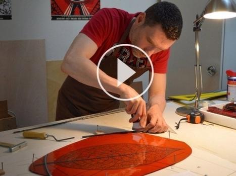 Dans les coulisses de la fabrication d'un vitrail... (VIDEO)   L'Etablisienne, un atelier pour créer, fabriquer, rénover, personnaliser...   Scoop.it