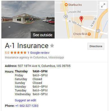 Good2go Insurance Review >> A1 Insurance Columbus Ms Insurance Informatio