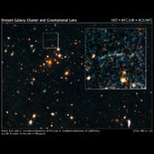 HubbleSite - NewsCenter - NASA's Hubble Spots Rare Gravitational Arc from Distant, Hefty Galaxy Cluster (06/26/2012) - Introduction | Astronomy news | Scoop.it