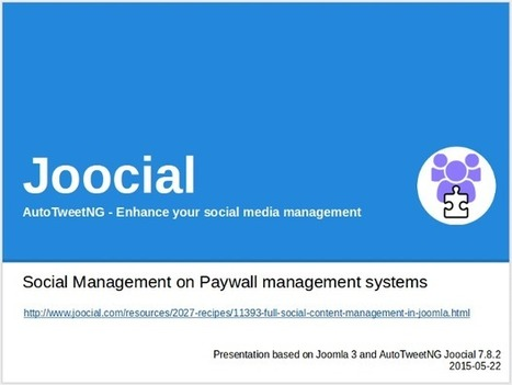 Joocial - Social Management on Paywall management systems   Joomla Community News   Scoop.it