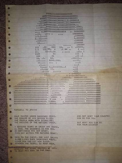 My grandpa worked for IBM in the '60s. This was printed... | ASCII Art | Scoop.it