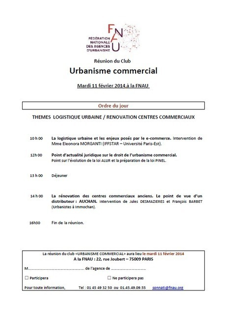 Club FNAU Urbanisme commercial | aduan | Actualité du centre de documentation de l'AGURAM | Scoop.it