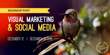 Visual Marketing and Social Media Roundup (December 12 – December 19 2016) - Visual Contenting | Visual Marketing & Social Media | Scoop.it