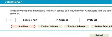 Steps to open the ports for tplink modem device