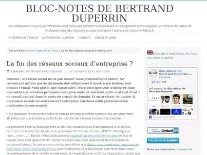 La fin des réseaux sociaux d'entreprise ? - Websourcing.fr | Travail collaboratif et réseau social d'entreprise | Scoop.it