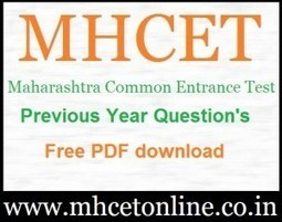 Mht Cet Sample Papers Pdf