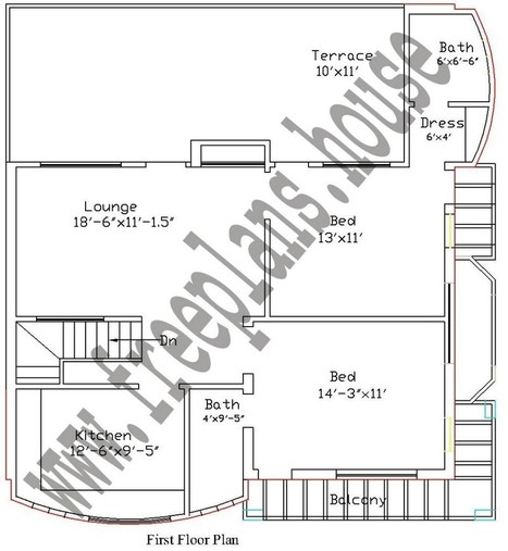 30 36 90 Square Meters House Plan Houses Free Plans