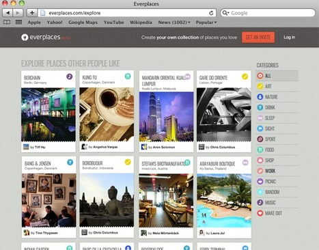 Bookmarking, Curation And Social Discovery App: Everplaces Is Pinterest For Locations | eLearning News | Scoop.it
