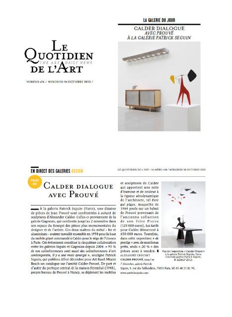 d92134926fcca9 Calder dialogue avec Prouvé   La revue de presse   web du SNA   Scoop.