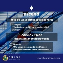 "English Lesson 0070: Word of the Day ""ascend"" - Shane English Schools Worldwide 