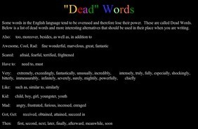 Dead Words | 6-Traits Resources | Scoop.it