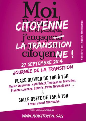 Le 27 septembre, Journée de la Transition Citoyenne à Toulouse | Toulouse Territoire en Transition | The Blog's Revue by OlivierSC | Scoop.it