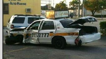 Fort Lauderdale cop car and Yellow Cab collide | READ WHAT I READ | Scoop.it