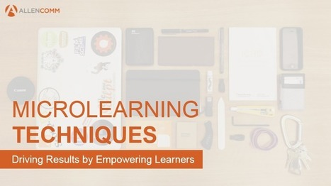 Free eBook – Microlearning Techniques: Driving Results By Empowering Learners - eLearning Industry | m-learning (UkrEl11) | Scoop.it