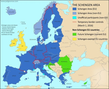 Europe's Free Travel Zone in Danger: Map of Temporary Border Controls in the Schengen Area | Geography Education | Scoop.it