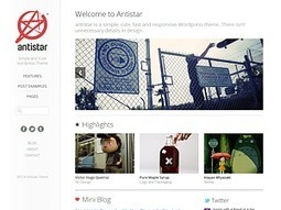 antistar wordpress theme | Responsive design & mobile first | Scoop.it