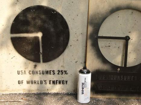 Flong Blog + News » Infoviz Graffiti: an Adjustable Pie-Chart Stencil | Street Arts | Scoop.it