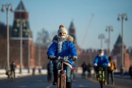 Des centaines de cyclistes bravent les records de froids à Moscou | Revue de web de Mon Cher Vélo | Scoop.it