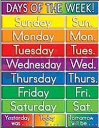 Days of the week learning English Monday Tuesday | Learning Basic English, to Advanced Over 700 On-Line Lessons and Exercises Free | Scoop.it