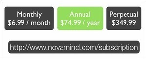 NovaMind unveils subscription pricing – plus 3 new products | Cartes mentales | Scoop.it