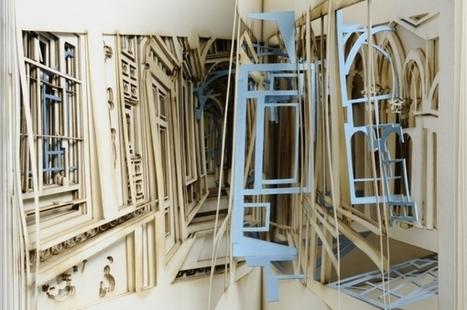Bookmarking Book Art - Johan Hybschmann | Books On Books | Scoop.it
