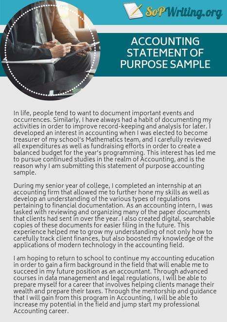 Statement of Purpose Accounting Sample | SOP Sa