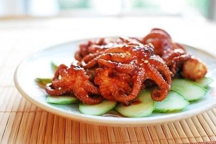 Jjukkumi Gui (Spicy Grilled Baby Octopus) | Korean Bapsang | Foodie | Scoop.it